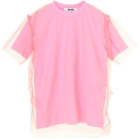 MSGM チュールカットソー Tシャツ・カットソー,ピンク