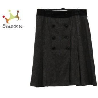 ニジュウサンク 23区 スカート サイズ46 XL レディース 美品 ダークグレー×ダークブラウン スペシャル特価 20190806