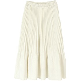 ティティベイト titivate 裾消しプリーツスカート (オフホワイト)