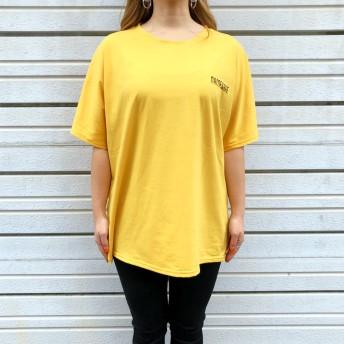 Tシャツ - SHEENA バックBIGプリントルーズTシャツ 春 夏 Tシャツ カットソー トップス ロゴ プリント ルーズ ビッグ BIG オーバー ストリート ダンス カジュアル