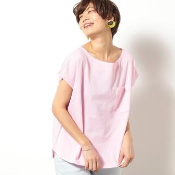 [マルイ]【セール】フレンチスリーブ Tシャツ/パープル&イエロー(Purple & Yellow)