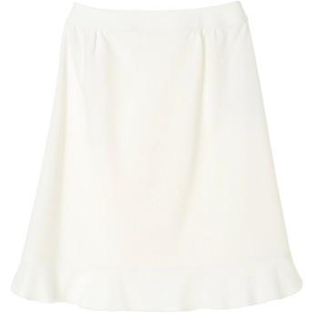 TAE ASHIDA コットンジャガードスカート ショート・ミニ丈スカート,ホワイト