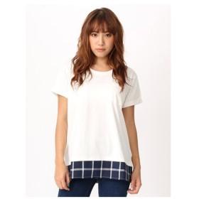 CECIL McBEE(セシルマクビー)裾チェックポケットTシャツ
