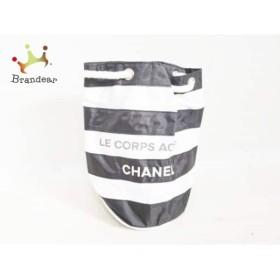 fa6f676787e5 シャネル CHANEL ワンショルダーバッグ - 白×黒 ノベルティ/巾着型/ボーダー/