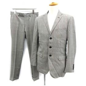バーバリーブラックレーベル BURBERRY BLACK LABEL スーツ セットアップ 上下 ジャケット パンツ グレンチェック L グレー /K