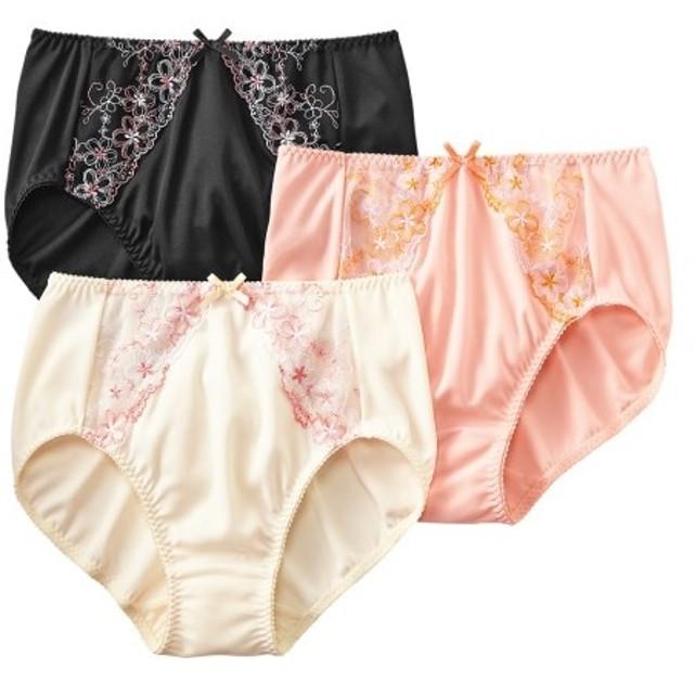 深ばきショーツ3枚組 スタンダードショーツ,Panties