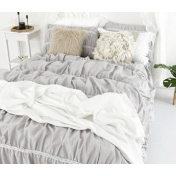 布団カバー 寝具カバー セット 4点 シングル クイーン キング 掛けカバー ベッドシーツ 枕カバー 無地 グレー ガーリーかわいい 新生活