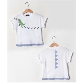 kladskap 恐竜足跡半袖Tシャツ(オフホワイト)【返品不可商品】