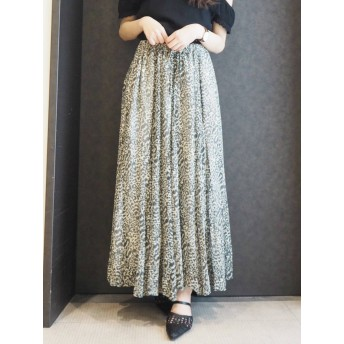 [GYDA]original leopard ロングスカート