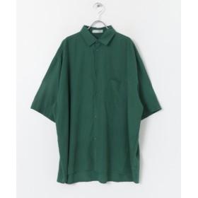【51%OFF】 センスオブプレイス モダールエクストラルーズシャツ(5分袖) メンズ GREEN FREE 【SENSE OF PLACE】 【セール開催中】