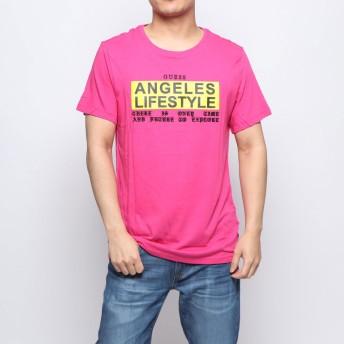 ゲス GUESS ANGELES LIFESTYLE TEE (CELL PINK)