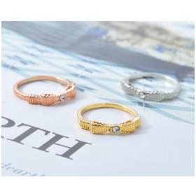 リング - PARIS KID'S 指輪 リング ピンキーリング リボン りぼん ラインストーン ゴールド シルバー ピンクゴールド