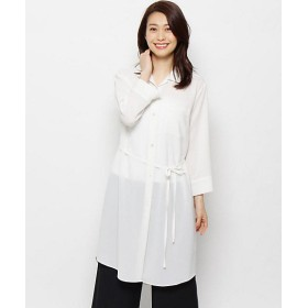 【SALE(三越)】<smart pink> サバンナポプリンストレッチロングシャツ(2001523334) 001シロ 【三越・伊勢丹/公式】