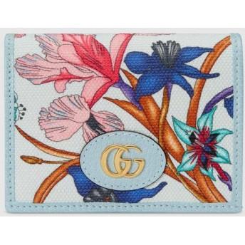 日本限定 フローラ プリント カードケース(コイン&紙幣入れ付き)