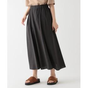 (studio CLIP/スタディオクリップ)リネンレーヨンクロス切り替えスカート[WEB限定プチサイズ]/ [.st](ドットエスティ)公式