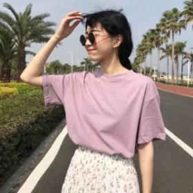 新しい夏 シンプルな純粋な Tシャツ女性カジュアル O ネック半袖韓国原宿ルース Tシャツ女性 すべて 試合レジャートップス tシャツ