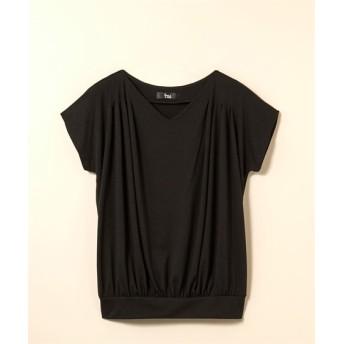 ショルダータックカットソープルオーバー (大きいサイズレディース)Tシャツ・カットソー