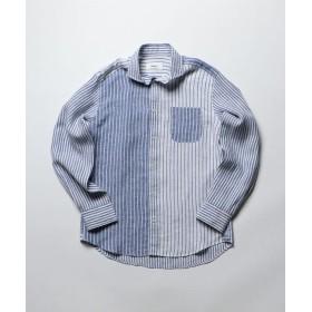 【30%OFF】 ノーリーズ フレンチリネンカッタウェイシャツ メンズ ホワイト系6 M 【NOLLEY'S】 【セール開催中】
