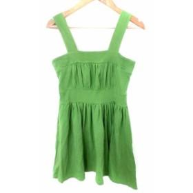 【中古】デイシー deicy ワンピース ジャンパースカート ミニ F 緑 グリーン /AKK23 レディース