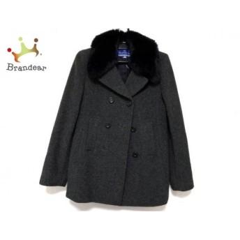 バーバリーブルーレーベル コート サイズ38 M レディース ダークグレー×黒 冬物/ショート丈 新着 20190424
