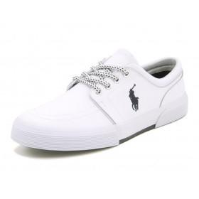 メンズ SALE!Polo Ralph Lauren(ポロラルフローレン) FAXON LOW(ファクソンロウ) R921 ホワイト【ネット通販特別価格】 スニーカー ローカット