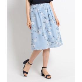 SunaUna(スーナウーナ) 【洗える】フラワークロススカート