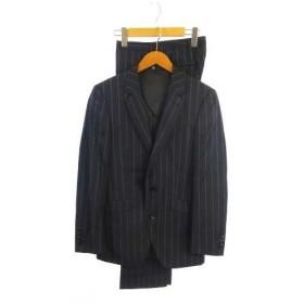スーツセレクト SUIT SELECT ANGELICO スーツ シングル ブレザー 背抜き 2B ウール100% ストライプ ダブル スラックス セ