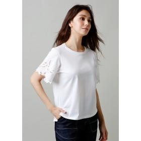 EVEX by KRIZIA 【ウォッシャブル】コットンエンブロイダリーカットソー Tシャツ・カットソー,オフホワイト