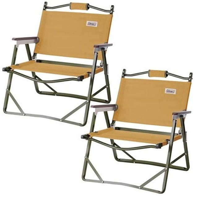 コールマン(Coleman) キャンプ用品 2脚セット ファイヤープレイス フォールディングチェア サンド 2000034675 アウトドア バーベキュー キャンプ チェア