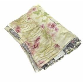 9a591533193890 ピエールルイマシア PIERRE LOUIS MASCIA ストール 花柄 ペイズリー柄 ベージュ 紫 黄緑 ピンク