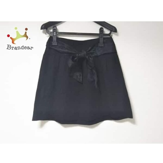 バーバリーブルーレーベル ミニスカート サイズ38 M レディース 美品 黒 リボン       スペシャル特価 20190908