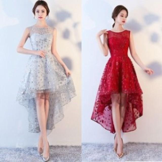 パーティードレス 結婚式 二次会 お呼ばれ ワンピース ノースリーブ お呼ばれドレス ドレス 20代 30代 40代 フィッシュテール 2XL