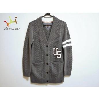 トミーヒルフィガー コート サイズM レディース 美品 グレー×白×マルチ 冬物/ニット 新着 20190426