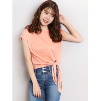【50%OFF】 ダズリン basic ribon Tシャツ レディース オレンジ F 【dazzlin】 【セール開催中】