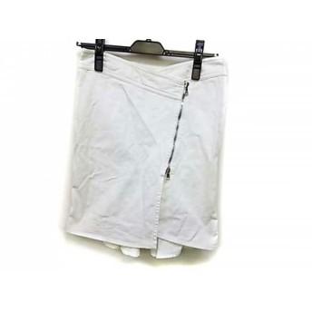 【中古】 アルマーニジーンズ ARMANIJEANS 巻きスカート サイズI 36 レディース 白