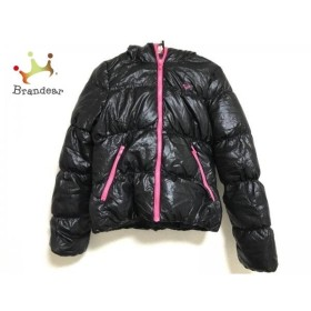 ロキシー Roxy ダウンジャケット サイズM レディース 黒×ピンク 冬物/ジップアップ 新着 20190425
