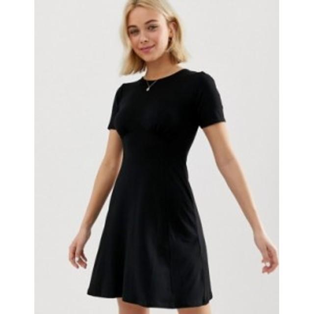 エイソス レディース ワンピース トップス ASOS DESIGN ultimate mini tea dress Black