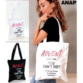 【セール開催中】ANAP(アナップ)バンド風プリントトートバッグ