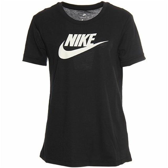 ナイキ(NIKE) レディース ロゴ Tシャツ 846469 010 ブラック/ホワイト 半袖 シャツ トップス トレーニングウェア フィットネスウェア