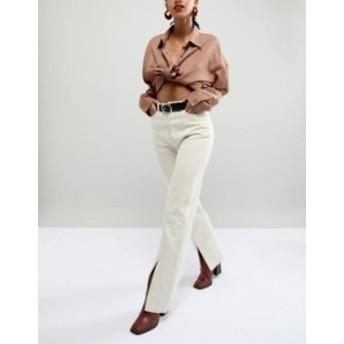 エイソス レディース ベルト アクセサリー ASOS DESIGN leather hammered circle buckle jeans belt in silver Black