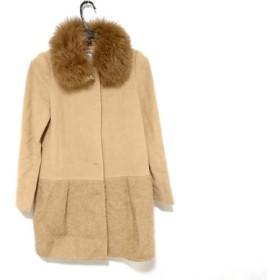 【中古】 リランドチュール コート サイズ1 S レディース 美品 ライトブラウン ダークブラウン 冬物