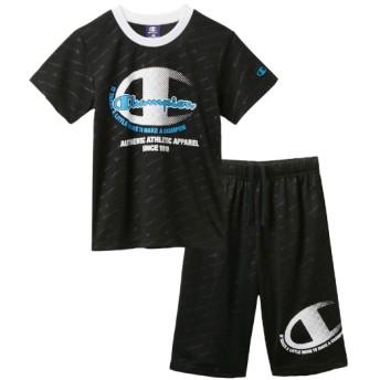 【champion】Tスーツ(Tシャツ+ハーフパンツ)(男の子 女の子 子供服 ジュニア服) キッズジャージ