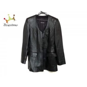 ジョルジオアルマーニ GIORGIOARMANI コート サイズ40 M レディース 美品 黒 レザー/春・秋物 新着 20190426