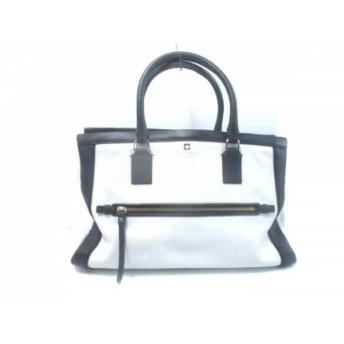 【中古】 ケイトスペード ハンドバッグ 美品 ハドソン ストリート ケラン WKRU2390 白 ネイビー レザー