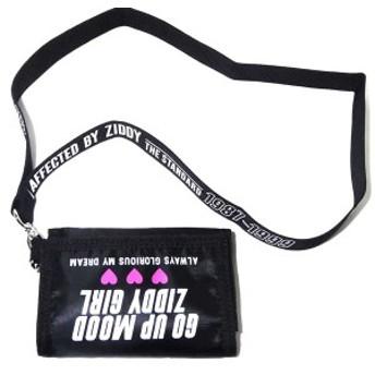 三折り財布 ZIDDY ジディー 吊付き ナイロンキャンバス 子供服 キッズ 女児用 女の子 1234-12025 黒 ブラック