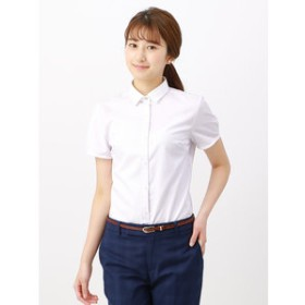【THE SUIT COMPANY:トップス】【半袖・COOL MAX・Soil Release】Easy Care Blouse ストライプ