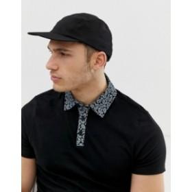リバーアイランド メンズ 帽子 アクセサリー River Island cap in black Black
