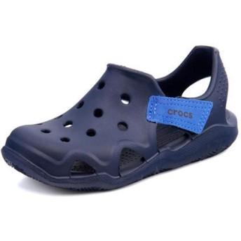 SALE!crocs(クロックス) SWIFTWATER WAVE K キッズサンダル(スウィフトウォーターウェーブK) 204021 410 ネイビー【ネット通販特別価格】 ボーイズ