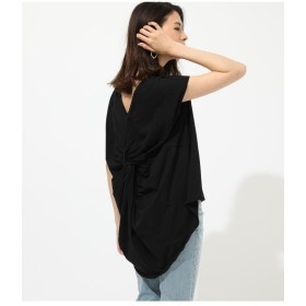 【60%OFF】 アズールバイマウジー BACK TWIST FRENCH SLEEVE TOP レディース BLK S 【AZUL BY MOUSSY】 【セール開催中】