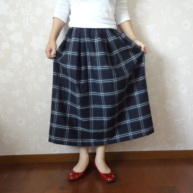 df34f1b96b503f ダブルガーゼのフレアースカート☆チェック 通販 LINEポイント最大 ...